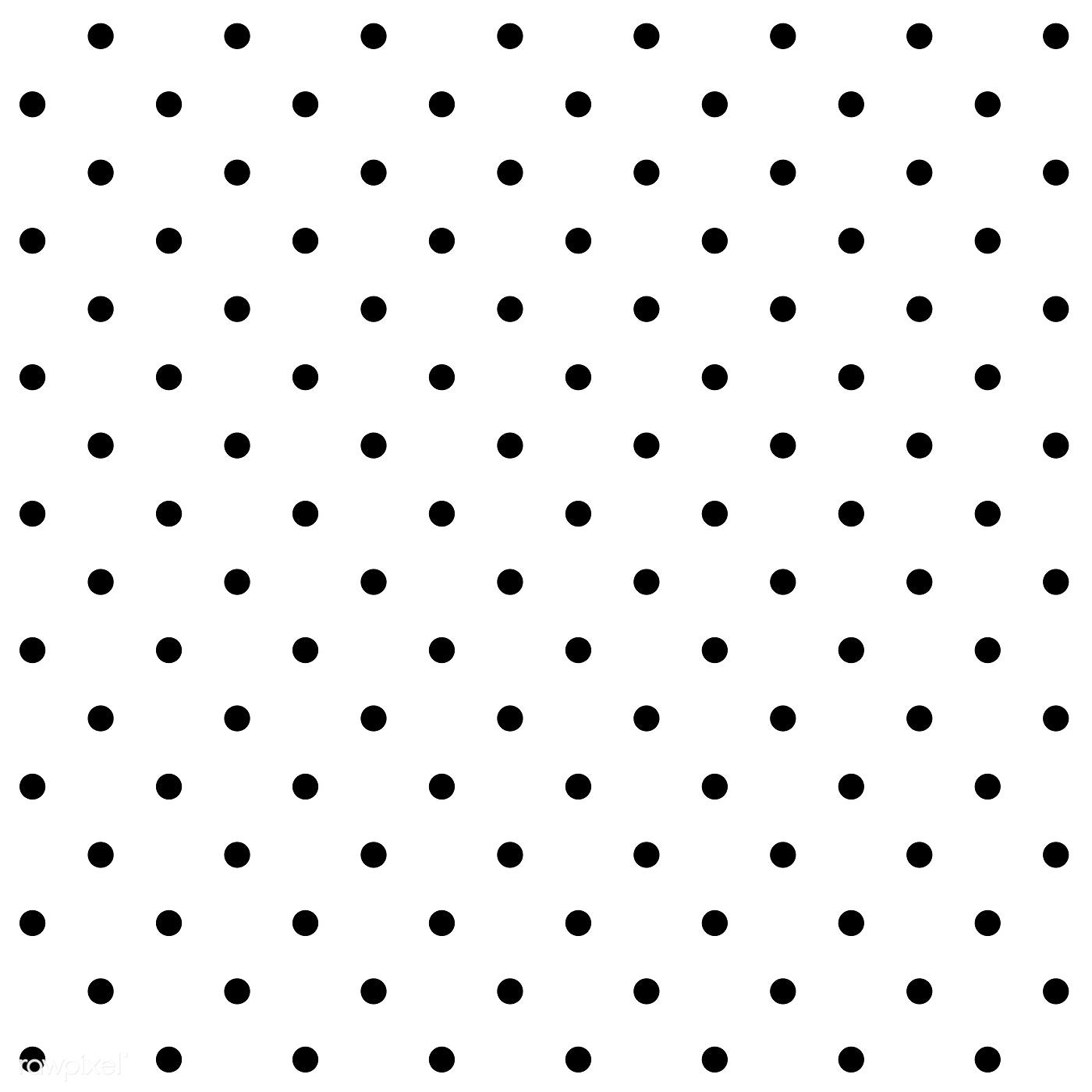Black And White Seamless Polka Dot Pattern Vector Free Image By Rawpixel Com Filmful Dot Pattern Vector Vector Free Polka Dot Background