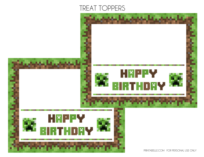FREE Minecraft Printables Minecraft birthday invitations