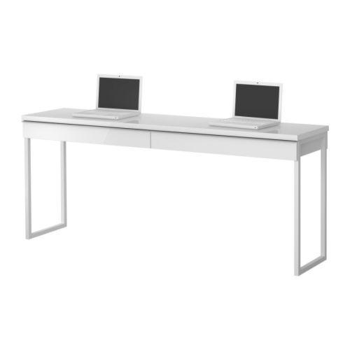 Schreibtisch weiß hochglanz ikea  BESTÅ BURS Schreibtisch - Hochglanz weiß - IKEA | Büro | Pinterest ...
