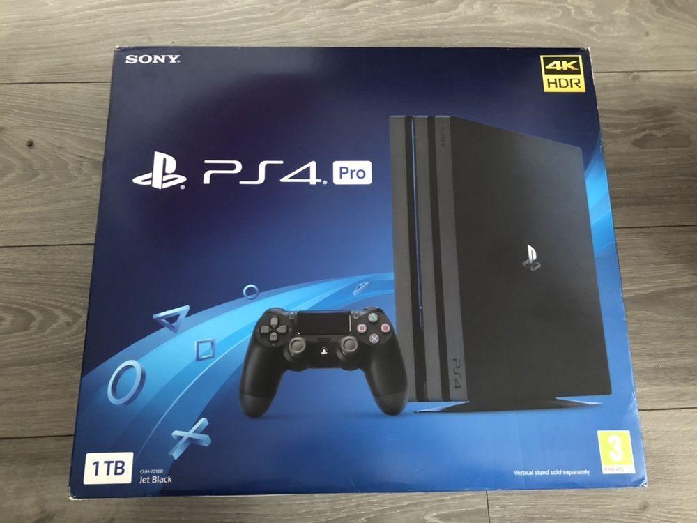 NEW PS4 Pro 1TB Black Console Brand New & Sealed JET BLACK CUH-7216B