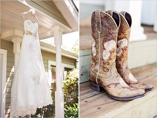 Country Chic Sana Rosa Wedding Cowboy DressesWedding BootsWedding