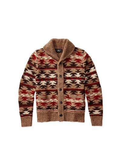 Men's Hand-knit Shawl Cardigan   Shawl cardigan, Knit shawls and ...