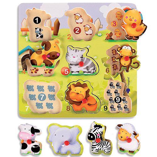 Puzzle Madera Animales Animales Para Bebes Juguetes Bebe Puzzles De Madera