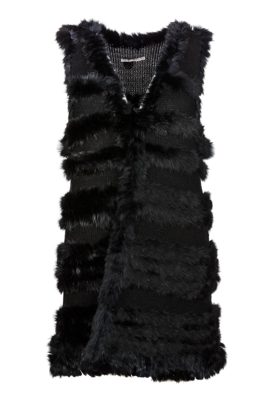 Gaudí Kožušinová Vesta . Dámska kožušinová vesta z kombinácie vlny a pravej  kožušiny ktorá nielen dodáva dáva tomuto kúsku luxusný look ale aj zahreje  v ... 8bbe7c3e8e3