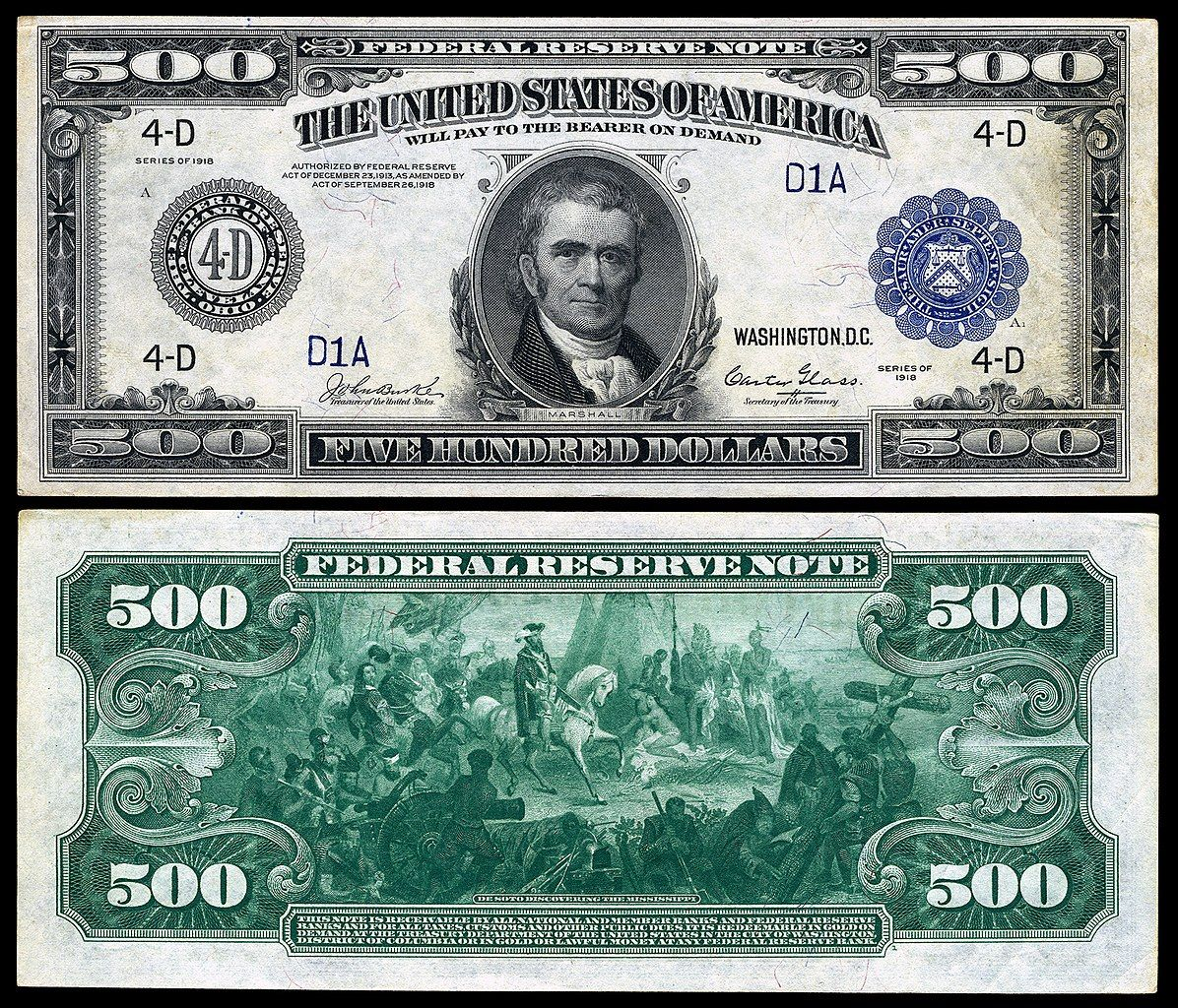 Large Denominations Of United States Currency Wikipedia Rare Coins Worth Money Dollar Bill Paper Currency