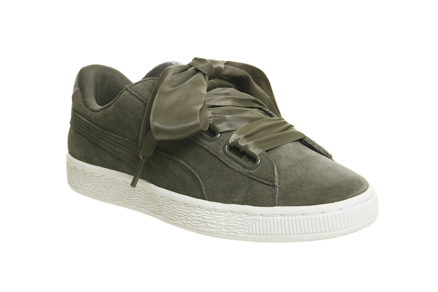 bc376f2c1b0 Military Greens Hit the PUMA Suede Heart