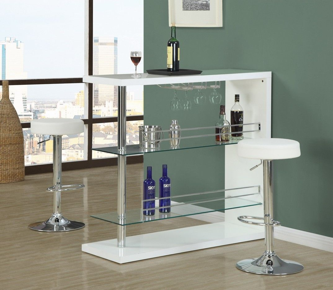Monarch Specialties Hydraulic Lift Barstool - White/Chrome I 2368