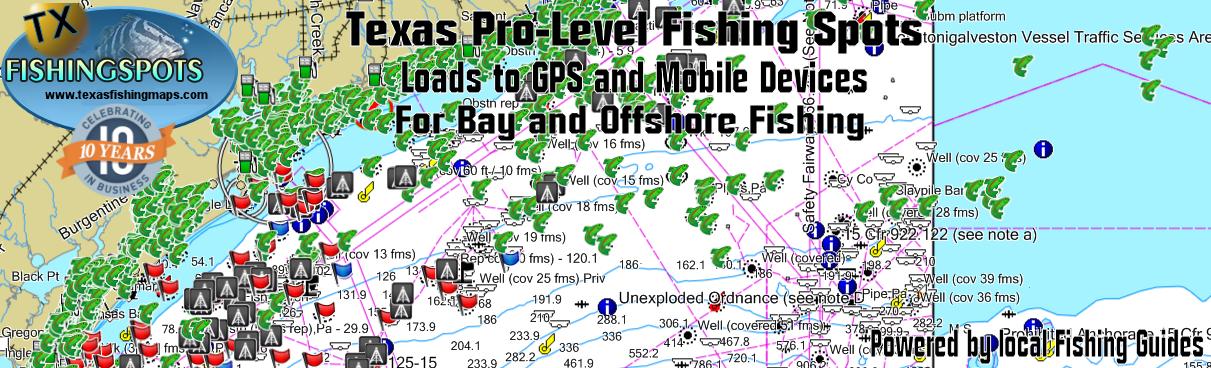 Texas Fishing Map