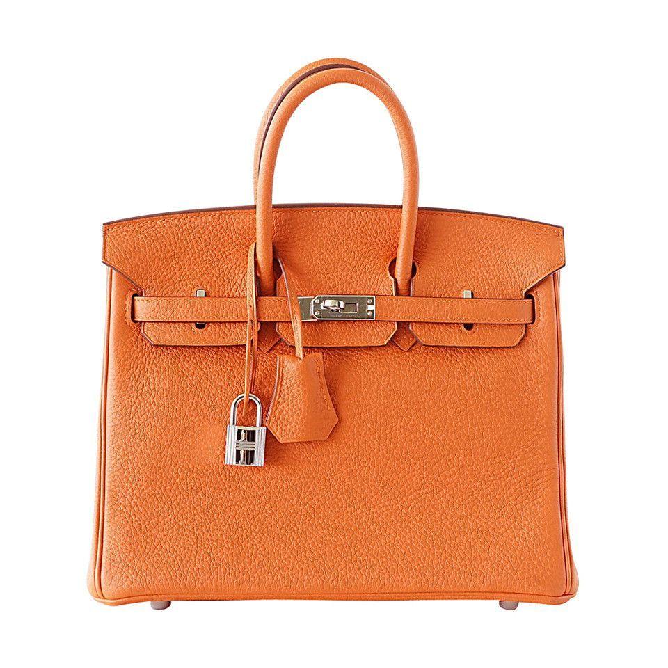 hermes birkin 25 bag iconic h orange treasure togo. Black Bedroom Furniture Sets. Home Design Ideas
