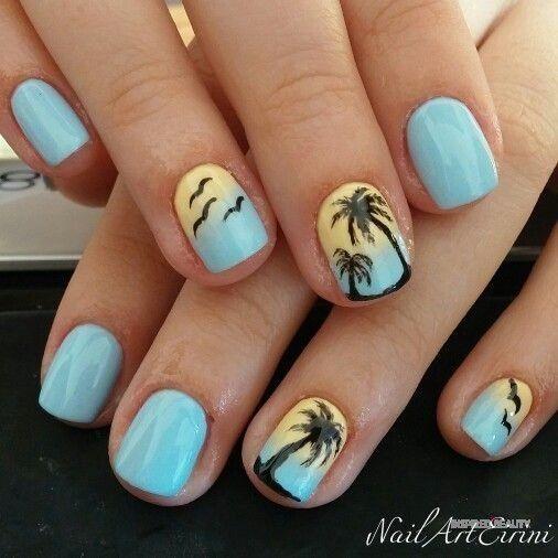 Summer Nails Beach Designs Inspired Beauty Summer Gel Nails Beach Nails Summer Nails Beach