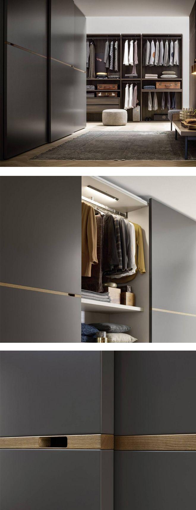 Novamobili Kleiderschrank Middle Schiebetüren | minimalistisches ...