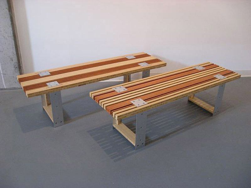 Custom Benches Made With Mixed Cali Bamboo Plywoods Bamboo Plywood Bamboo Furniture Furniture