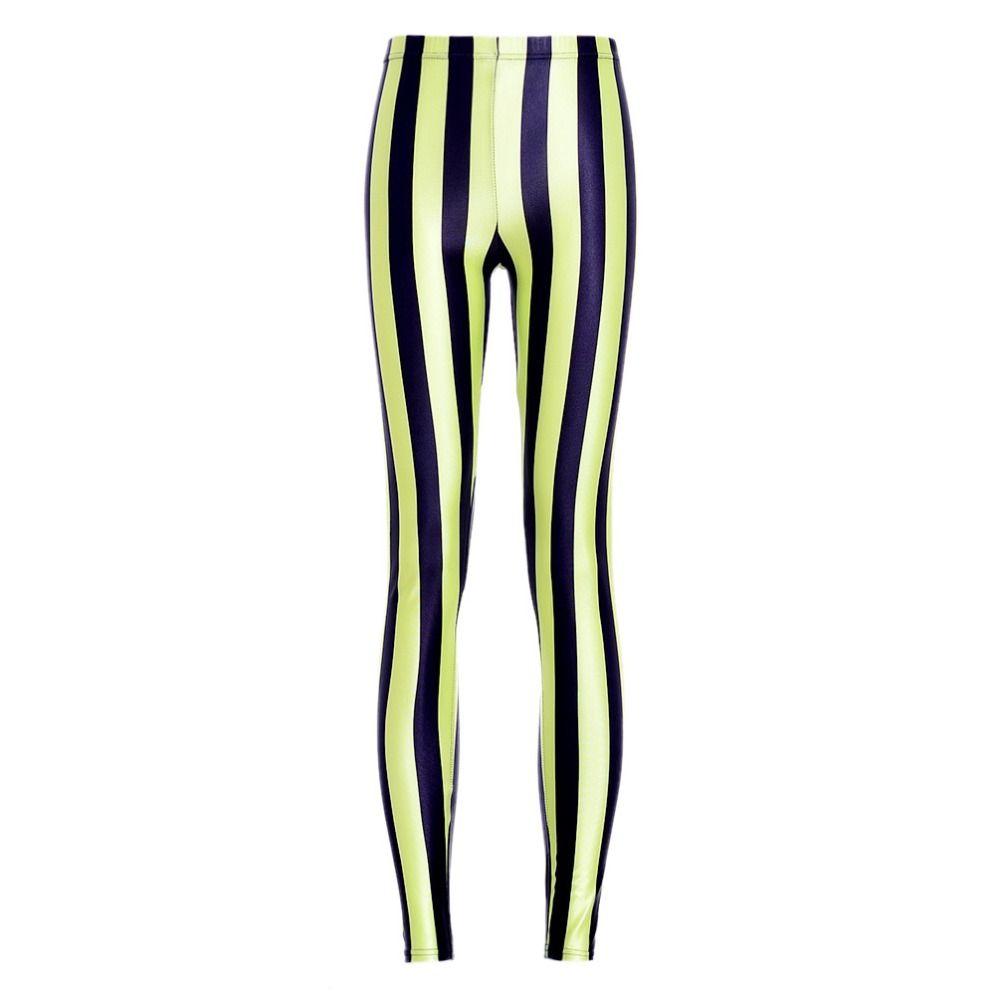 Sexy 2016 Women Yellow black Stripes  Leggings Good Elastic woman Pants Milk Leggings Fitness DROP SHIP #Affiliate