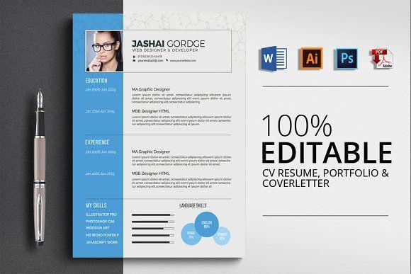 Cv Resume Word Resume words, Psd templates and Resume cv - cv vs resume