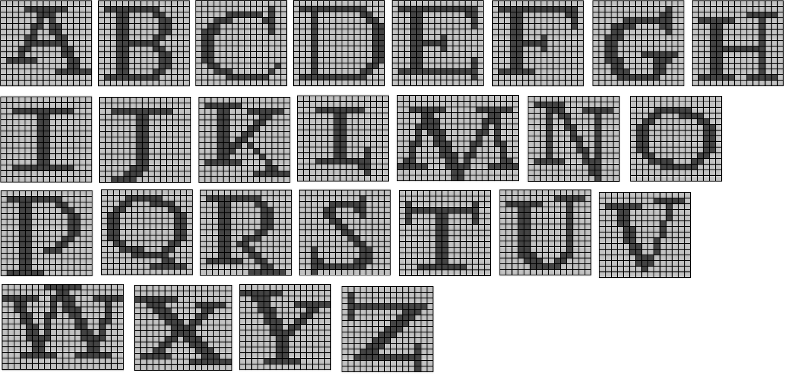 Potter Alphabet for Knitting. HALLELUJAH I can have my own Weasley ...