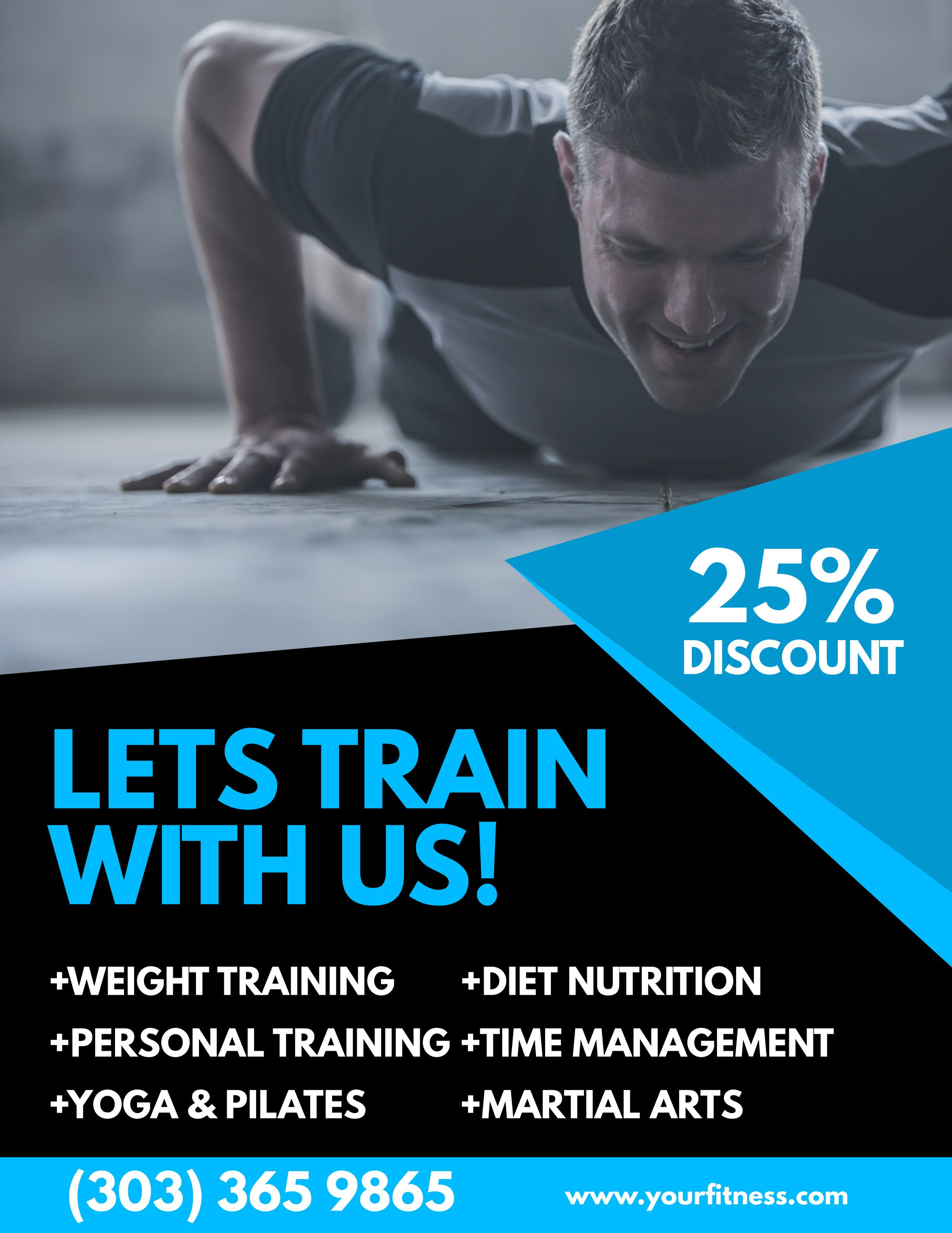 Gym ad poster flyer social media graphic design template. | Fitness ...