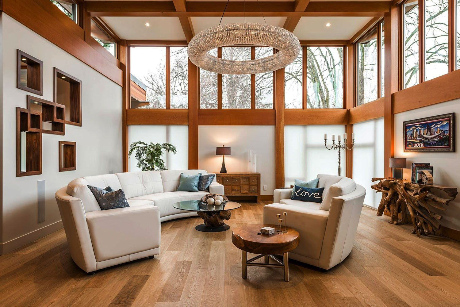 Step Into This Jaw Dropping West Coast Modern Home That S Eco Friendly In 2020 West Coast Living Room Modern House Windows And Doors