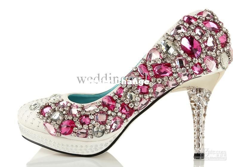 Pink High Heels For Wedding: ... Hot Pink Diamond Party Bride