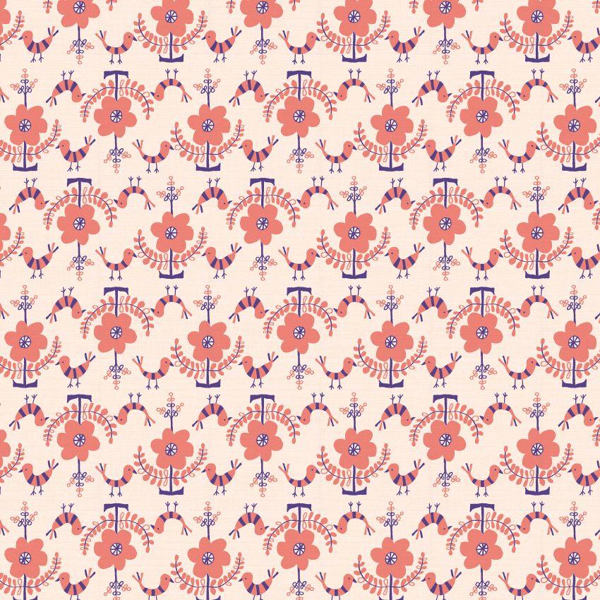 'flowers & birds' | Pattern design by anyan