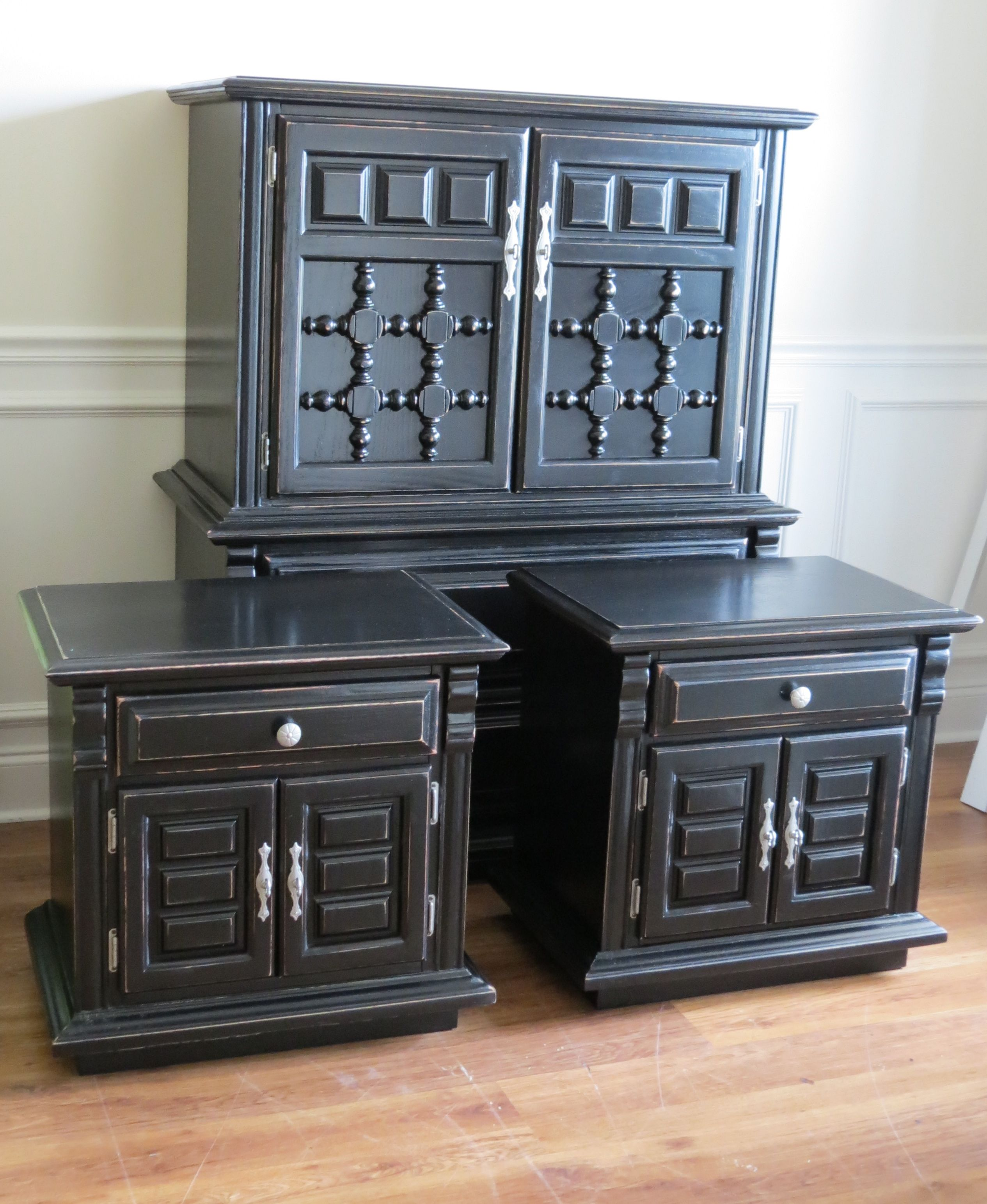 Painting Bedroom Furniture Black black painted furniture, this is how you make those clunky, old
