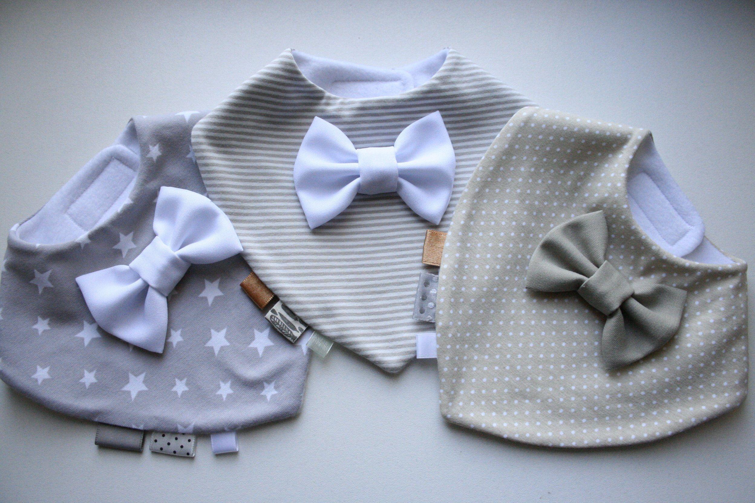 Ähnliche Artikel wie Baby Halstuch 3- Set für Jungen / Zwillinge , Lätzchen mit Fliege , Baby Halstuch Junge , Baby Bandana, Geschenk zur Taufe , Baby Shower auf Etsy