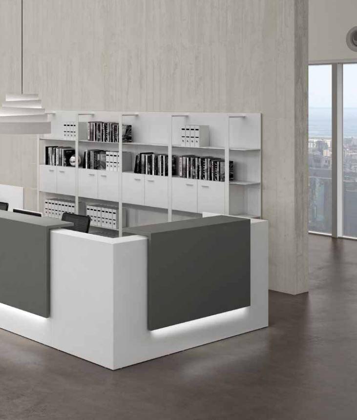 Recepci n mostradores configurados a medida para for Mobiliario recepcion oficina