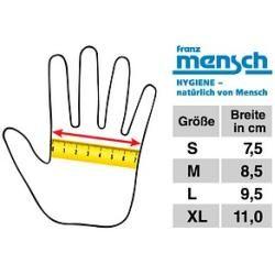 Photo of french man unisex work gloves nitrile grip yellow size L 12 pairs Franz Mensch