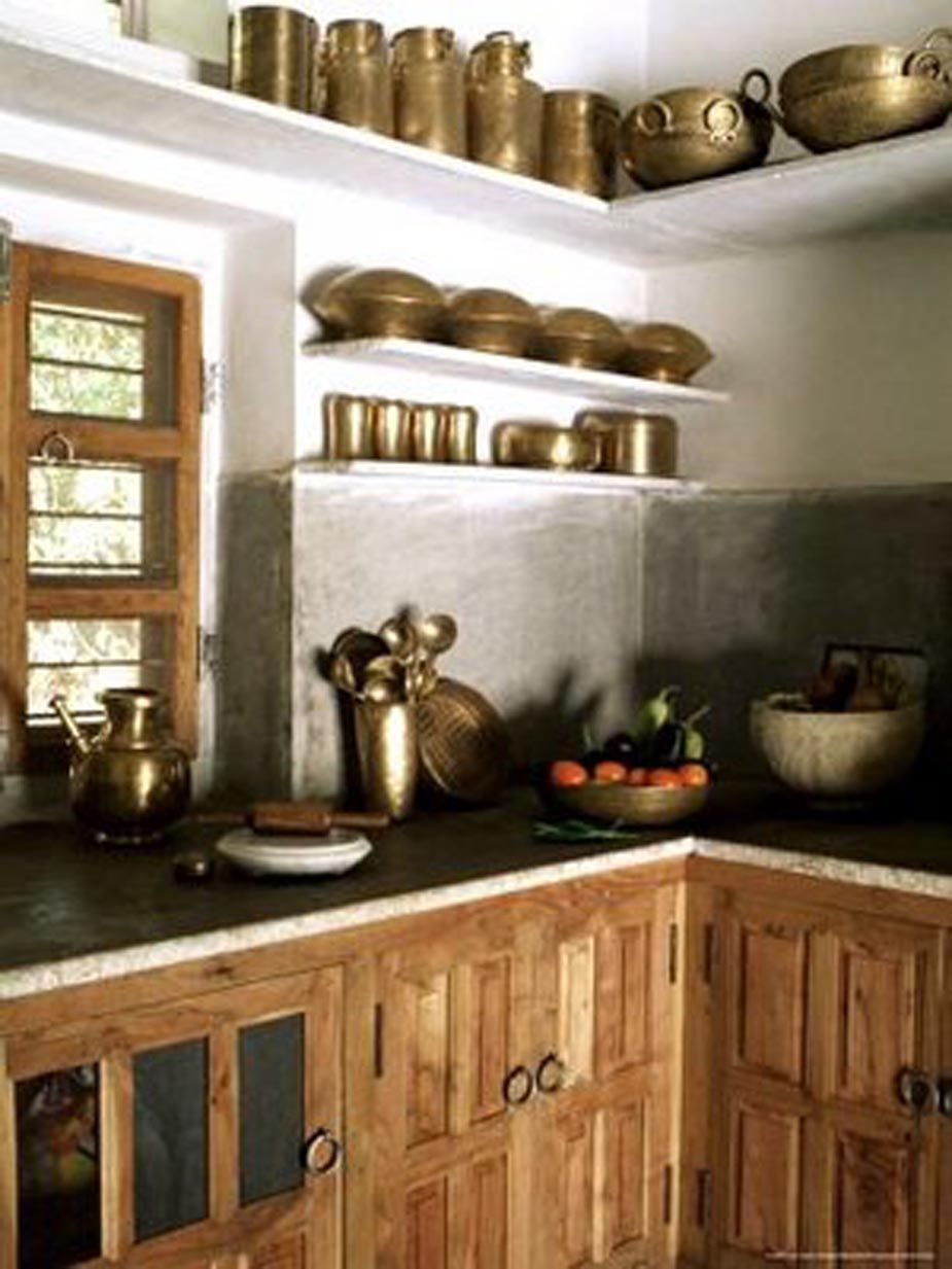 Indian traditional look to kitchen cachette pinterest for Traditional indian interior design