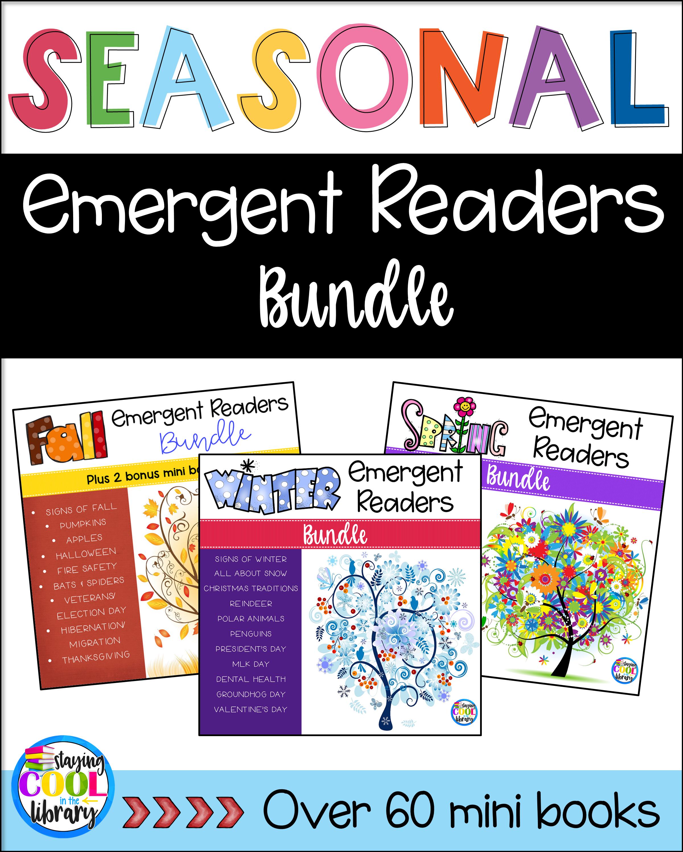 Seasonal Emergent Readers Or Minibooks For Kindergarten