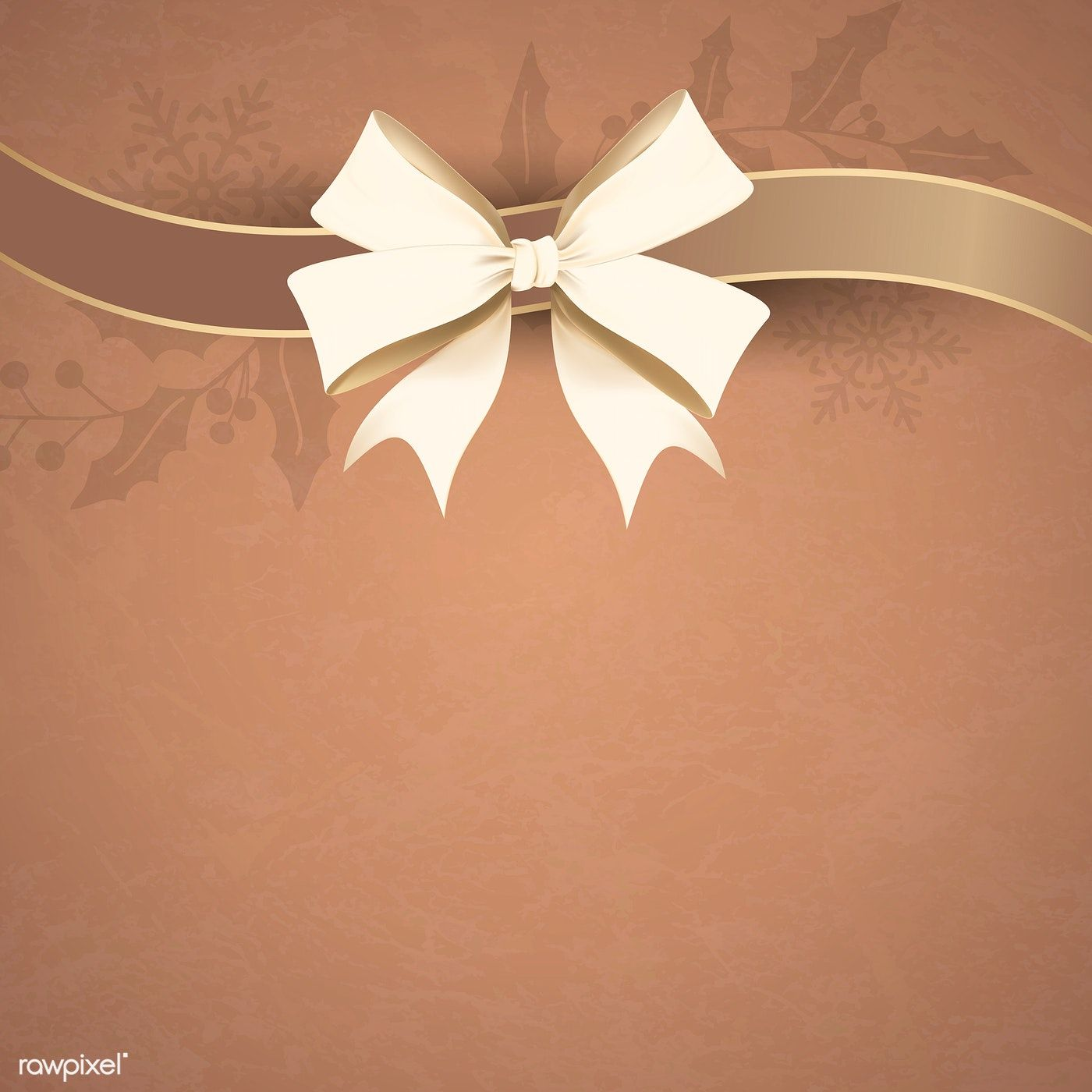 Gold Ribbon Bow On Brown Background Vector Premium Image By Rawpixel Com Kappy Kappy Gold Ribbons Ribbon Bows Christmas Frames