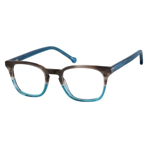 51f254cb1be Zenni Square Prescription Eyeglasses Gray Tortoiseshell Plastic 4429312 Designer  Eyeglasses