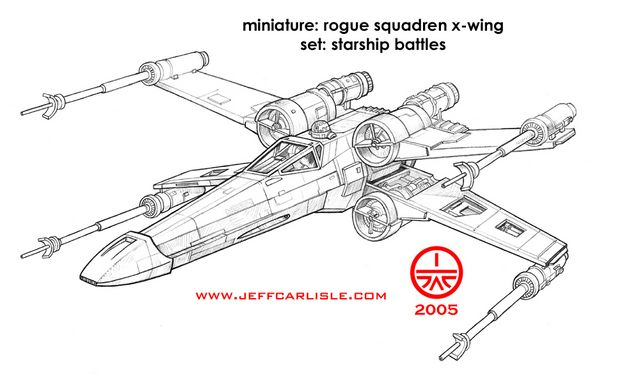 Star Wars Miniatures Starship Battles Rogue Squadren X Wing
