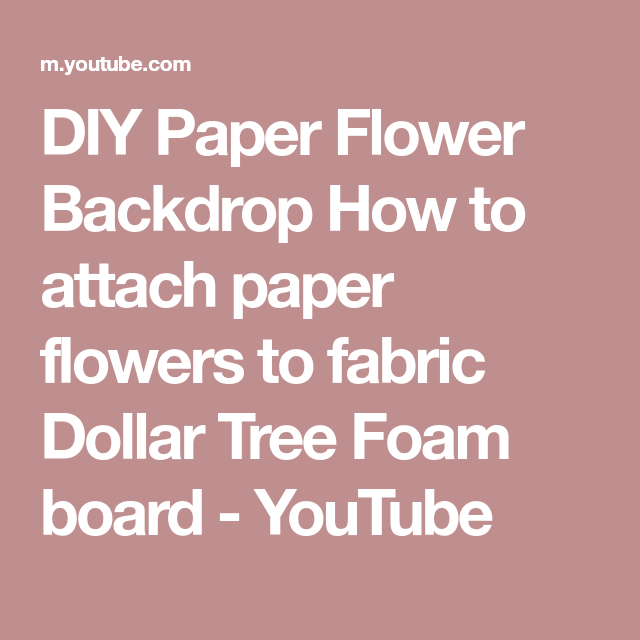 Diy Paper Flower Backdrop How To Attach Paper Flowers To Fabric