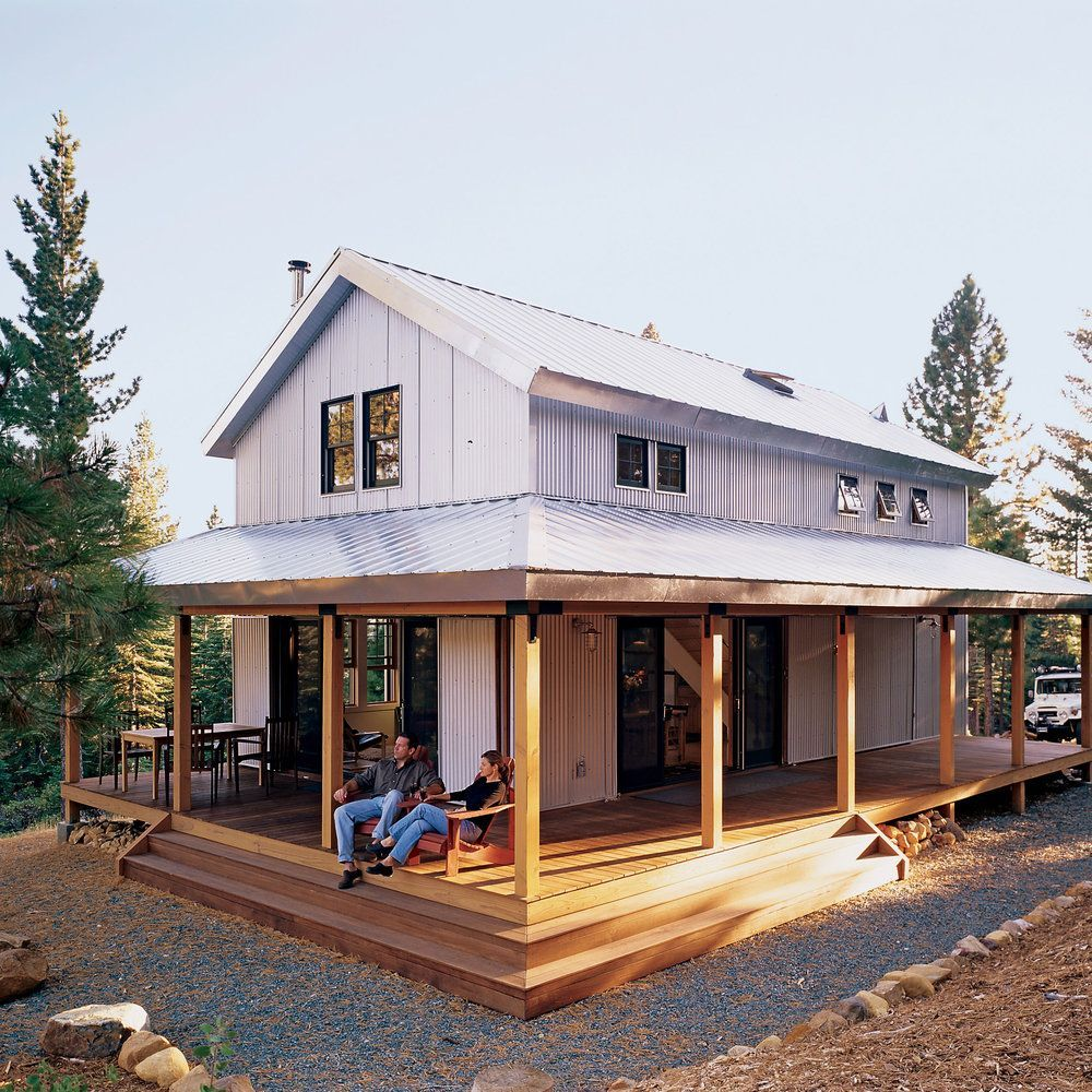 The 980 Square Foot Structure Is Off The Grid Thanks To An Array Of Photovoltaic Panels That Store The Metal Building Homes Building A House Pole Barn Homes