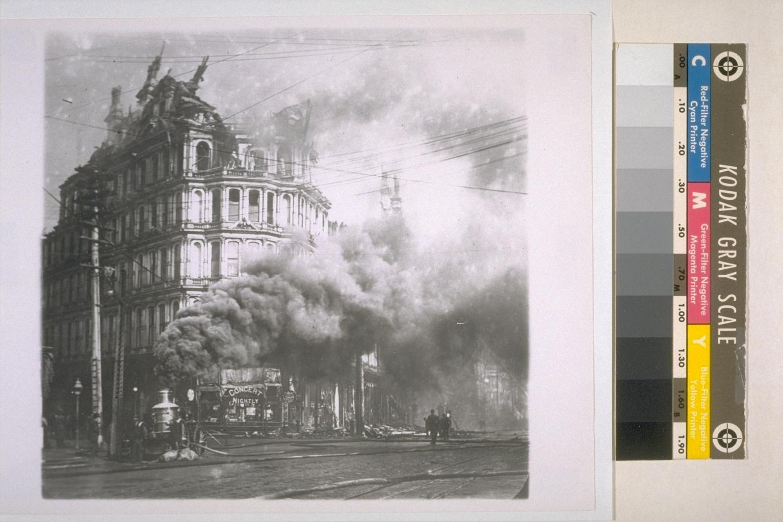 Baldwin Hotel Burning Sf Architecture San Francisco