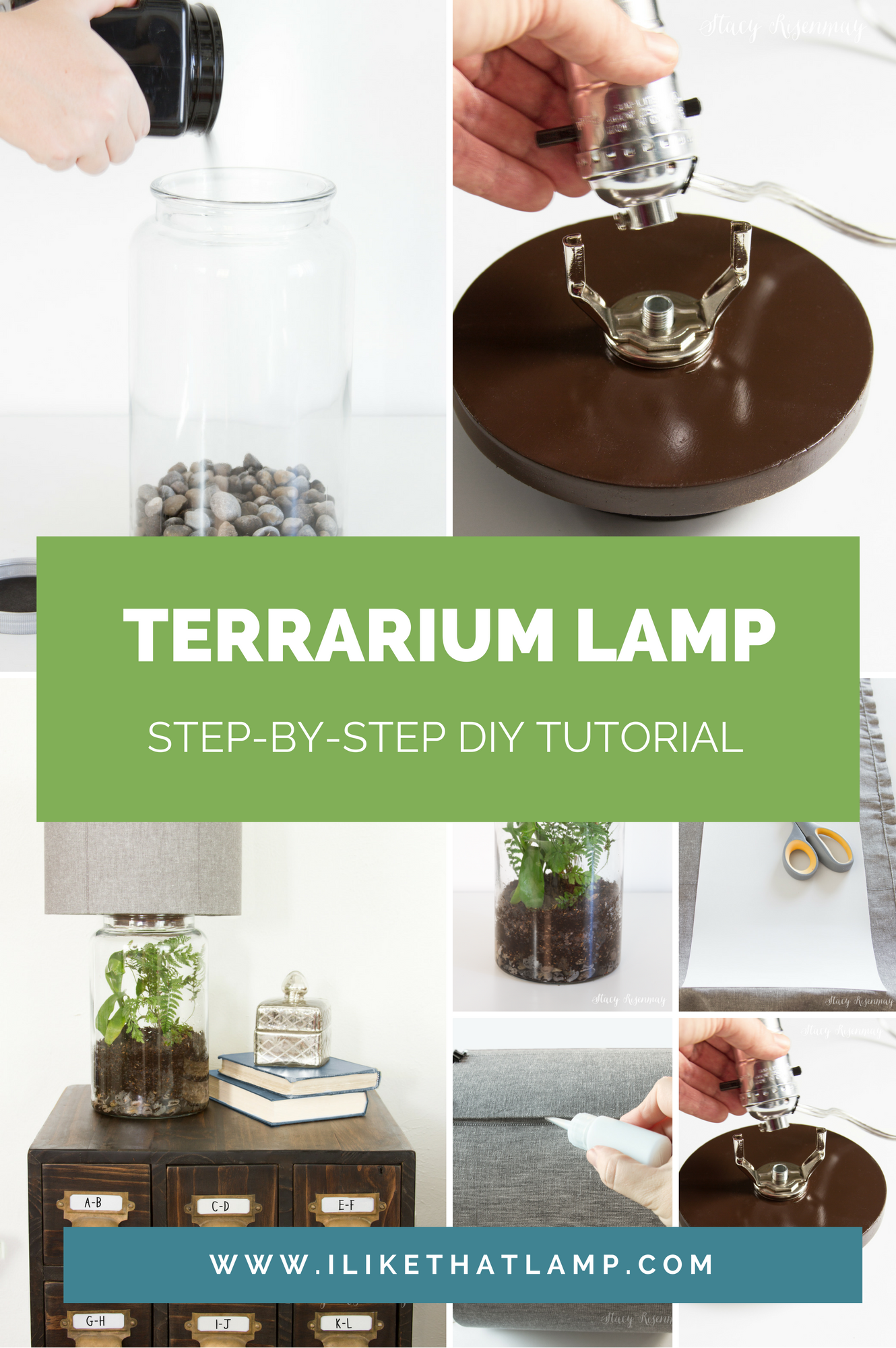 Featured On Not Just A Housewife Stacy S Easy Diy Terrarium Lamp