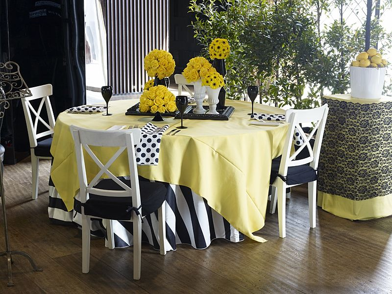 Yellow overlay with black and white stripe underlay event weddings junglespirit Gallery