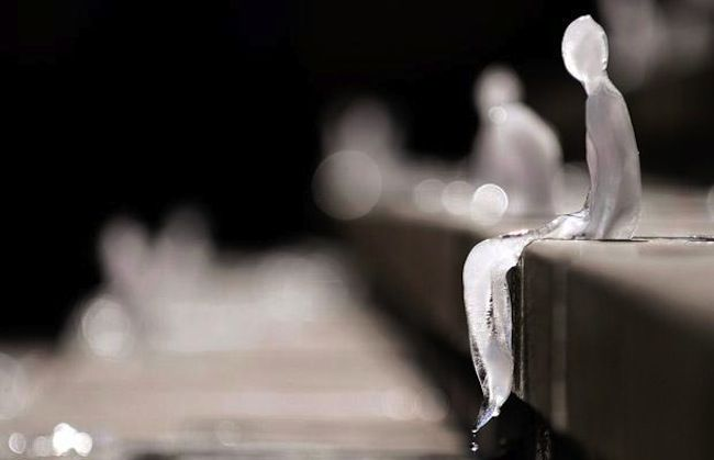 Berlin, Germany: 1,000 ice sculptures melted under the