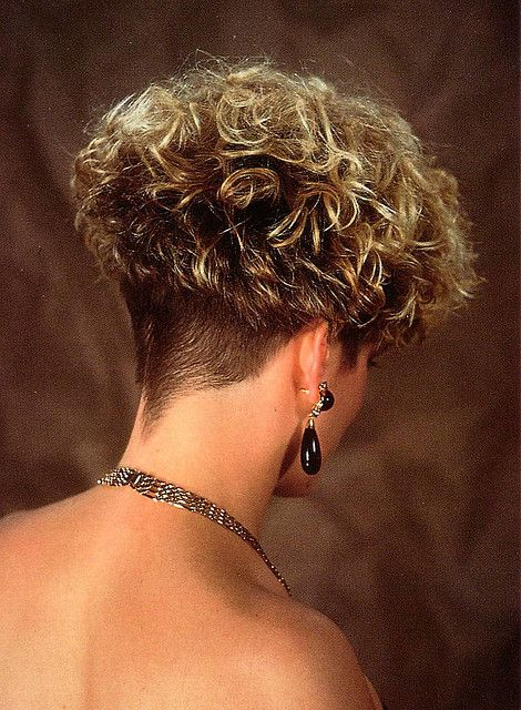 Permed Wedge Clippered Nape Bones Curly Hair Styles