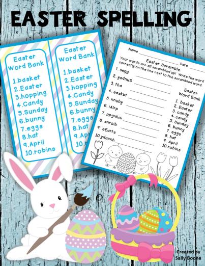 49++ Spelling worksheets easter Images