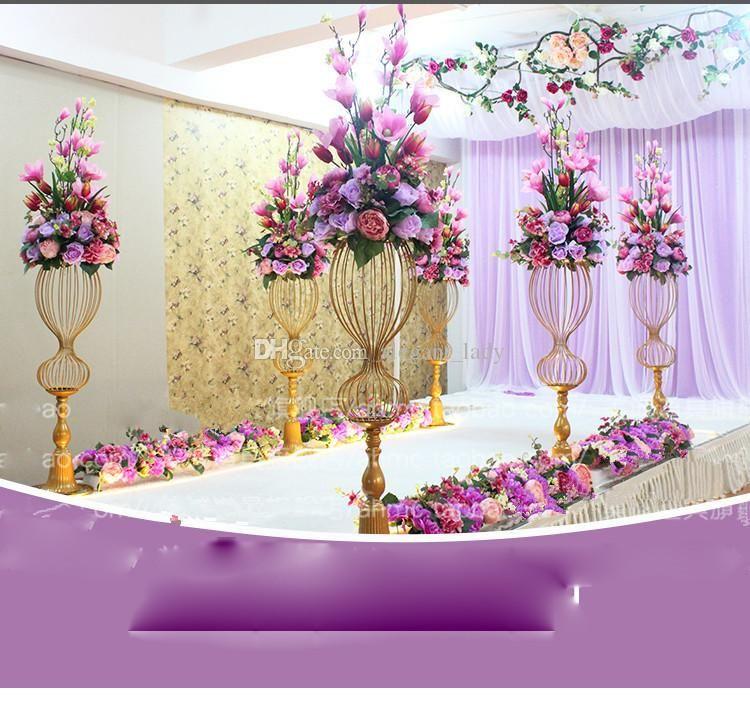 89cm tall metal wedding road leads flower stand wedding