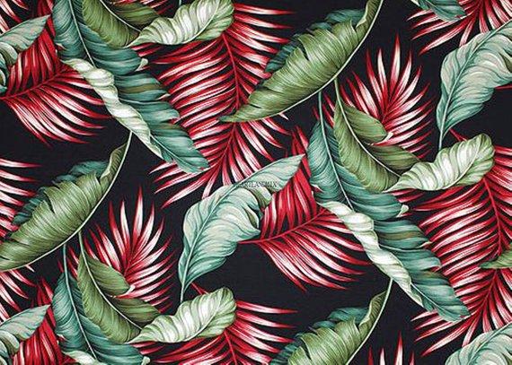 Tropical Wallpaper Vintage Digital Image Download Printable 300 Dpi