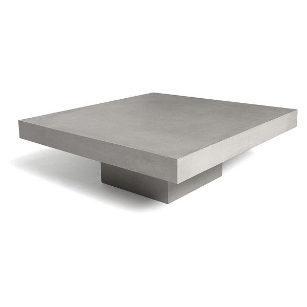 Concrete Square Coffee Table (23 535 UAH) ❤ liked on Polyvore featuring home, furniture, tables, accent tables, square coffee table, concrete furniture, concrete coffee tables, slab table and slab furniture