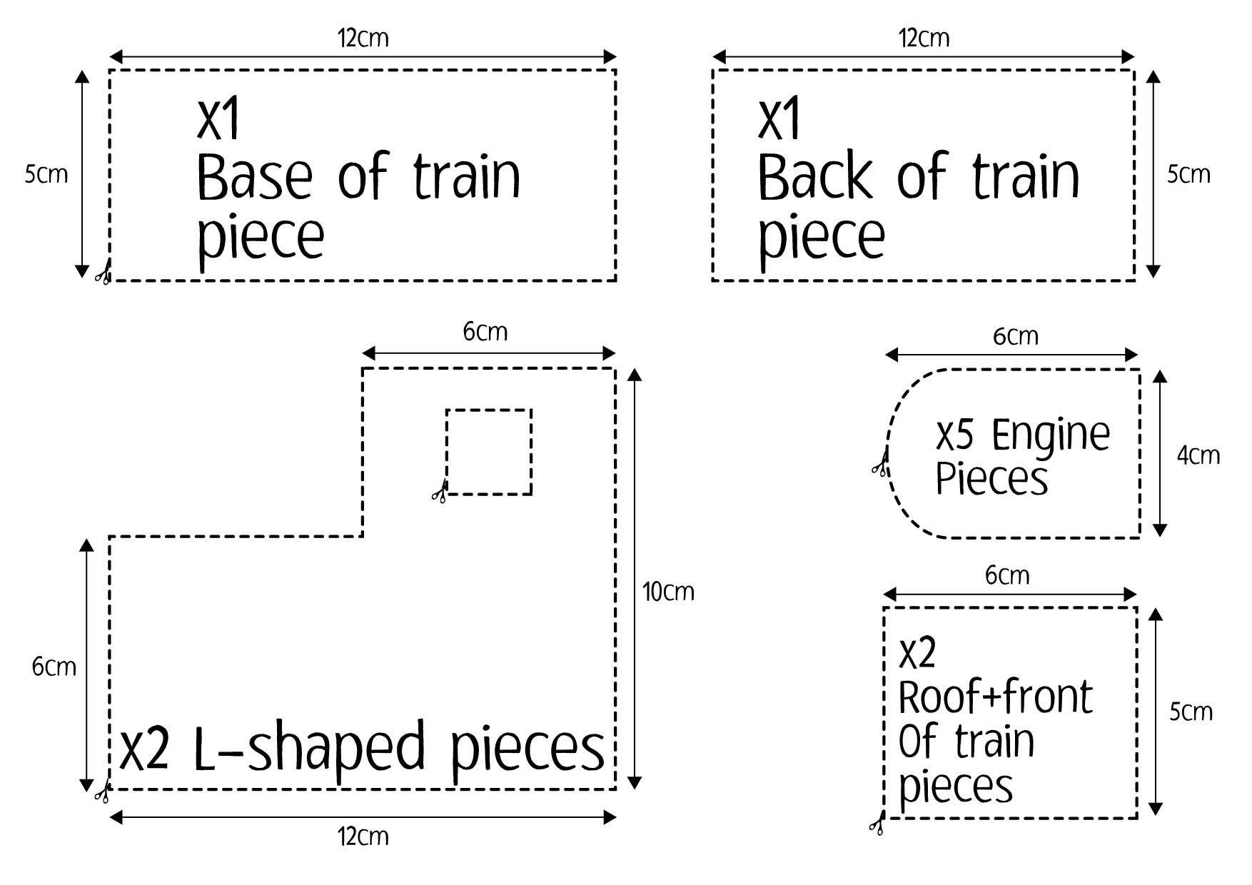 gingerbread train template printable Google Search (With