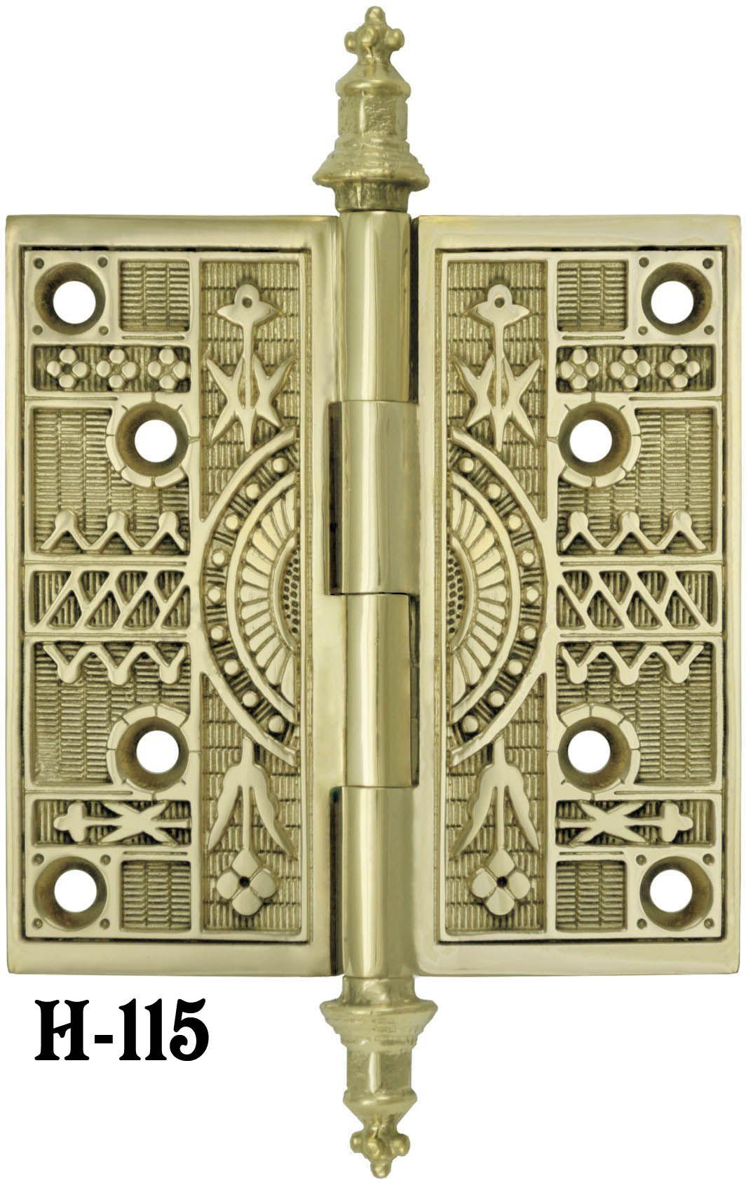 Eastlake Steeple Tip Door Hinges Reproduction Antique Brass Door Hinge. See  the entire selection of - Eastlake Steeple Tip Door Hinges Reproduction Antique Brass Door