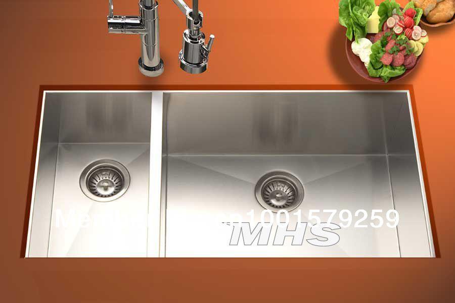 Good Sized Sink 33 Undermount Double Bowl Kitchen Stainless Steel