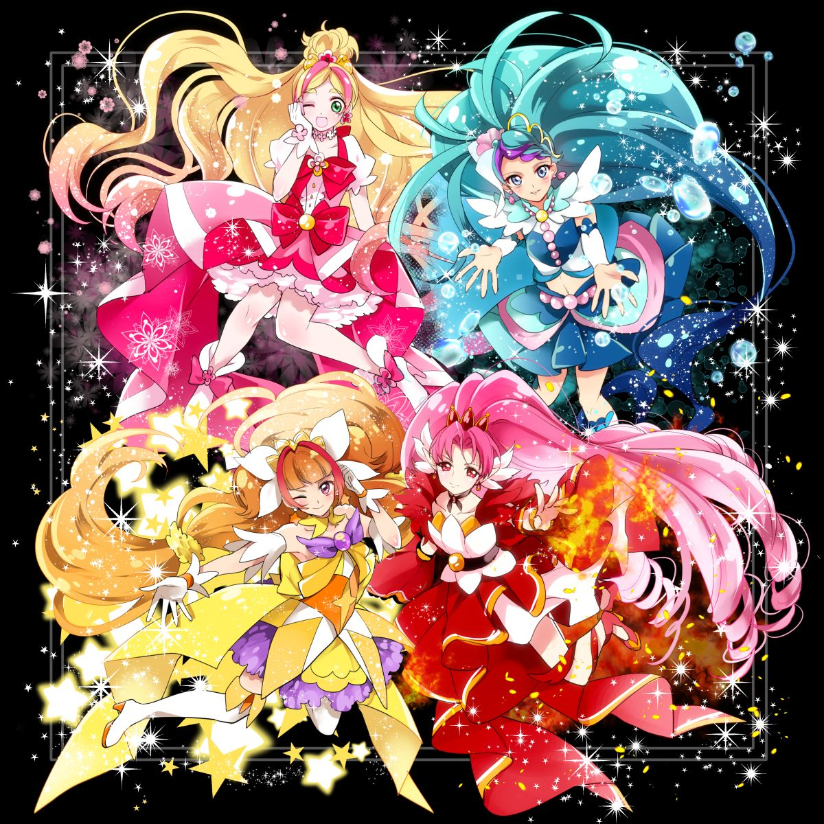 I think this anime is Princess Precure?? I don't know