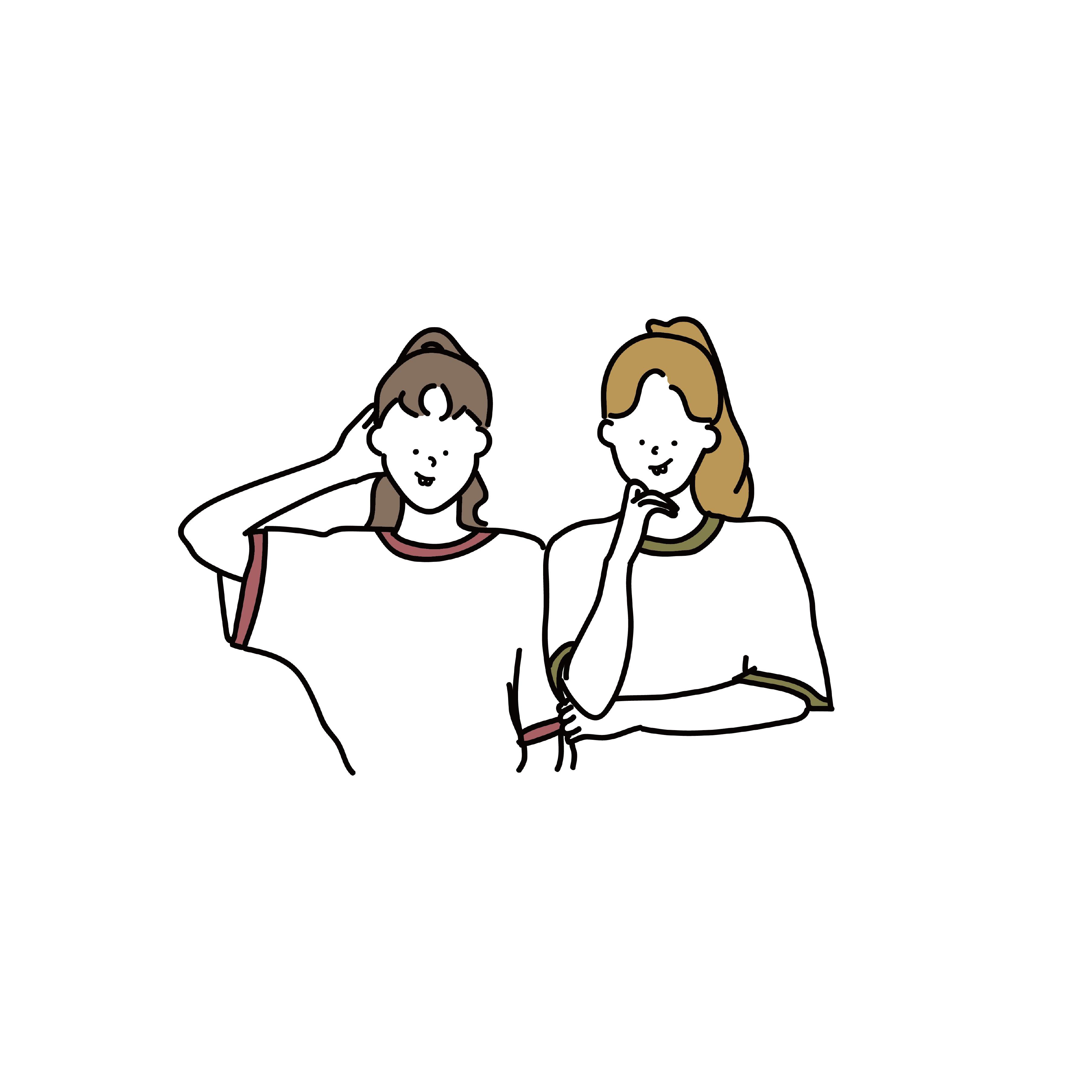2019 年の女の子 韓国 ポーズ イラスト 色 イラレ Illustrator