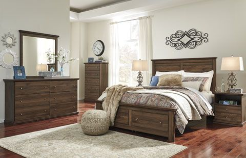 The Burminson bedroom collection is clean and elegant set to wake up ...
