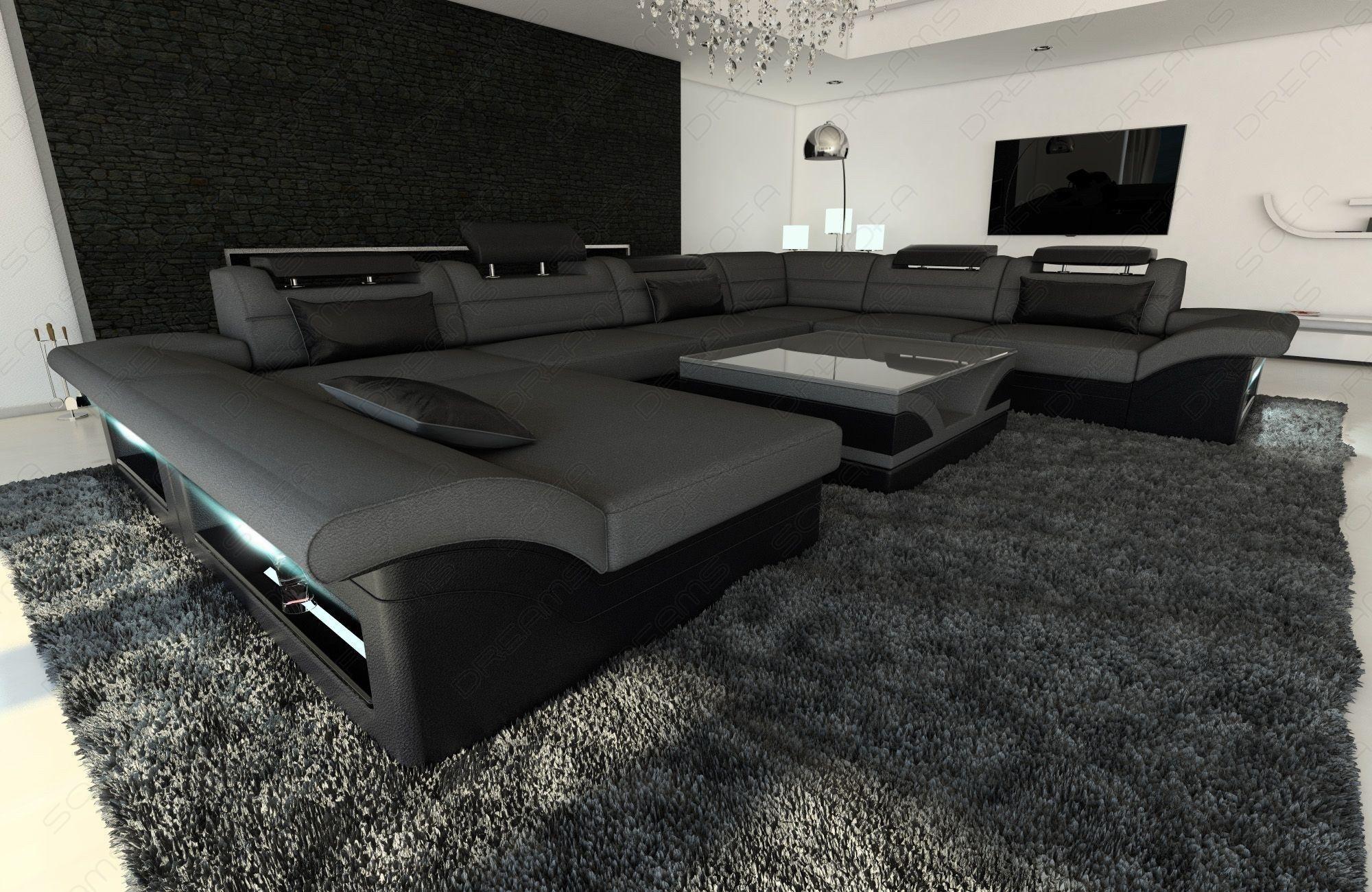 Fabric Design Sofa Atlanta Xl With Led Sofa Design Sofa